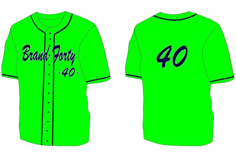 green baseball shirt