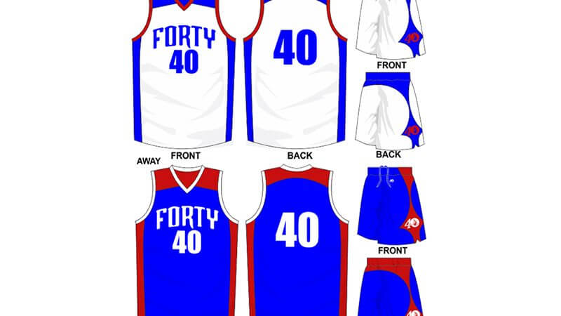 white and blue alternate with blue and red alternate