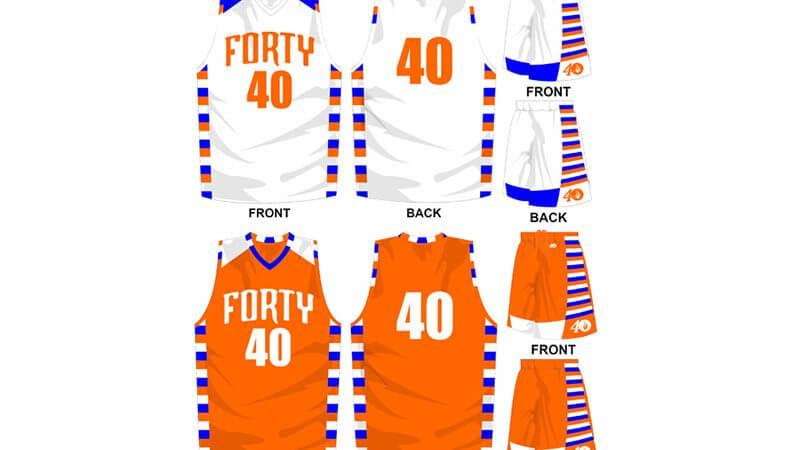 white uniform with orange alternate