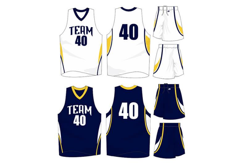 white uniform with navy alternate