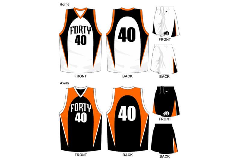 white and black uniform with black and orange alternate