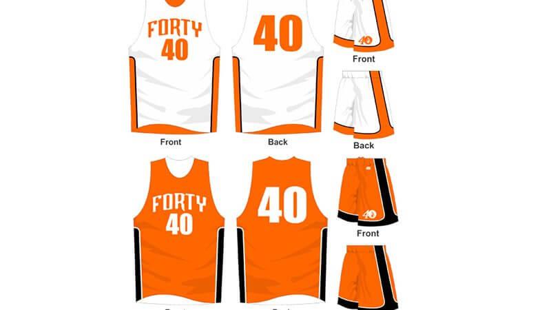white and orange uniform with orange and black alternate