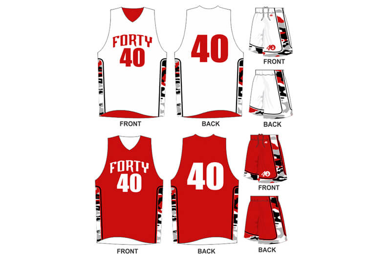 white uniform with camo and red alternate with camo