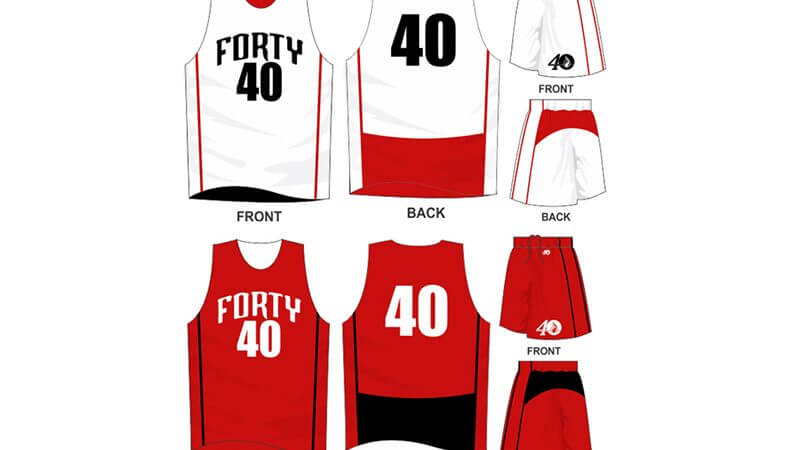 white and red uniform with red and black alternate