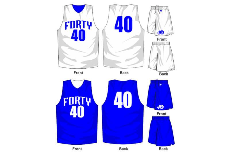 white uniform with blue alternate