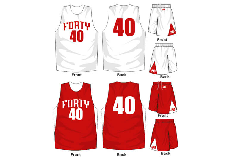 white uniform with red alternate