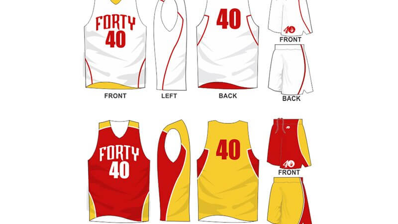 white uniform with yellow and red alternate