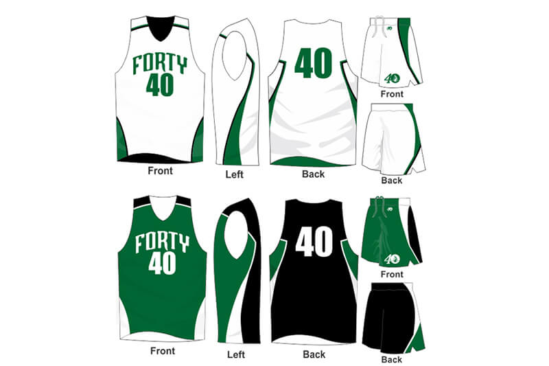 white uniform with green and black alternate