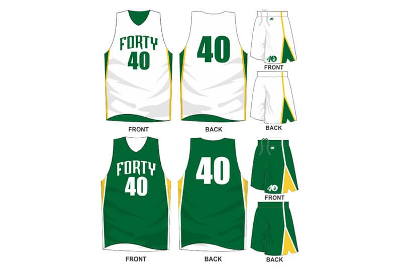 white uniform with green alternate