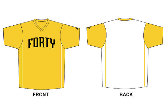yellow front and white back short sleeve