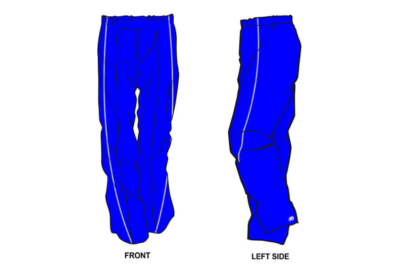 blue with white stripe on the side sweatpants