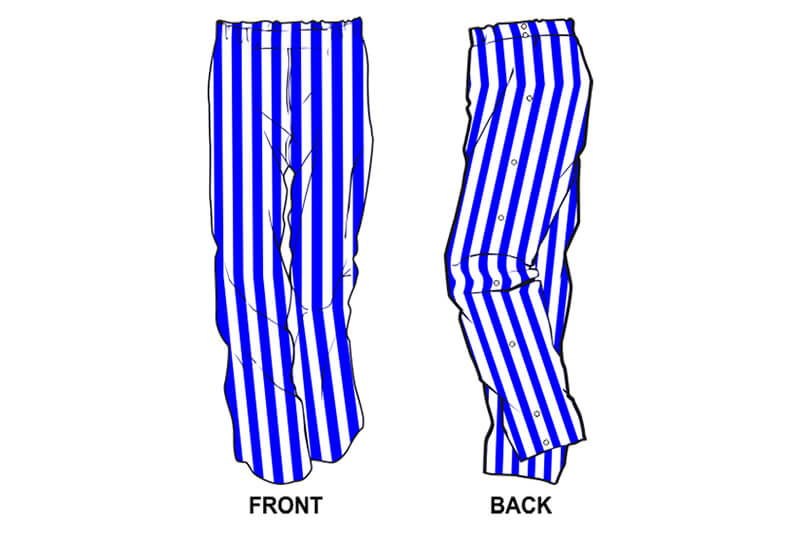 blue and white stripe sweatpants