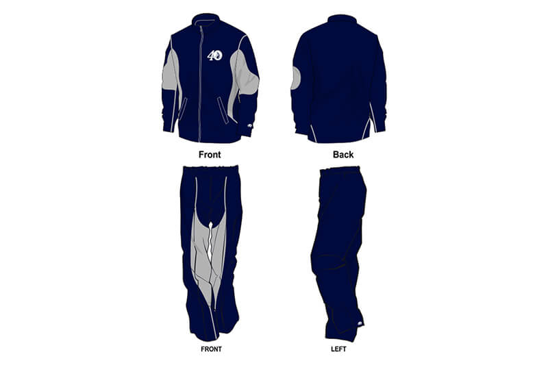 navy and grey sweat pants and hoodie set