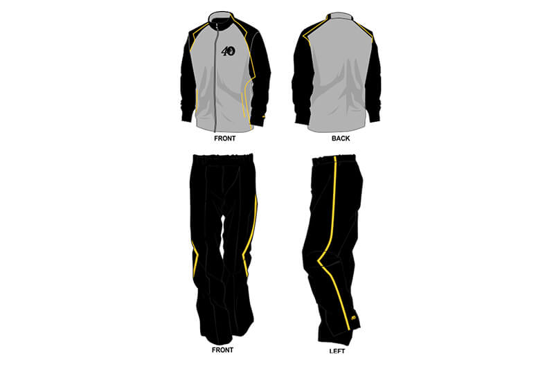 black and grey sweat pants and hoodie set