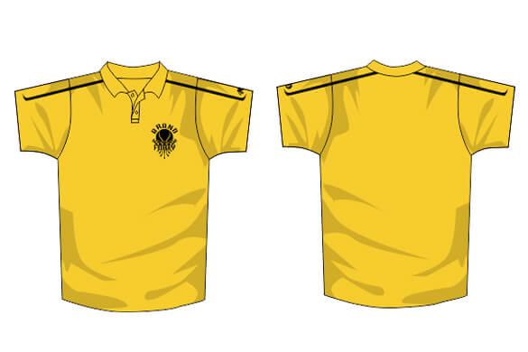 Yellow polo illustration