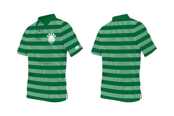 Striped Polo Illustration 46s green