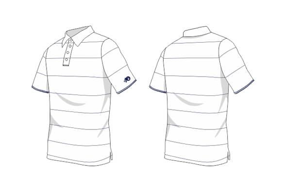 Striped Polo Illustration 46t