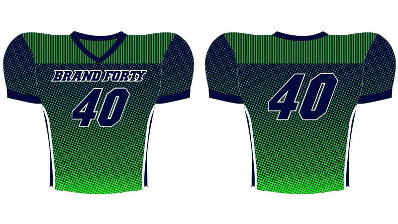 navy and green half tone jersey