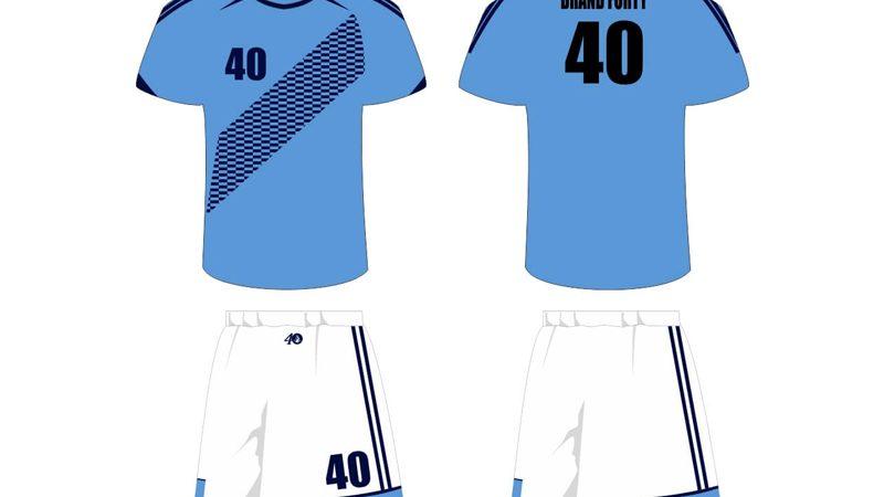 light blue and white uniform