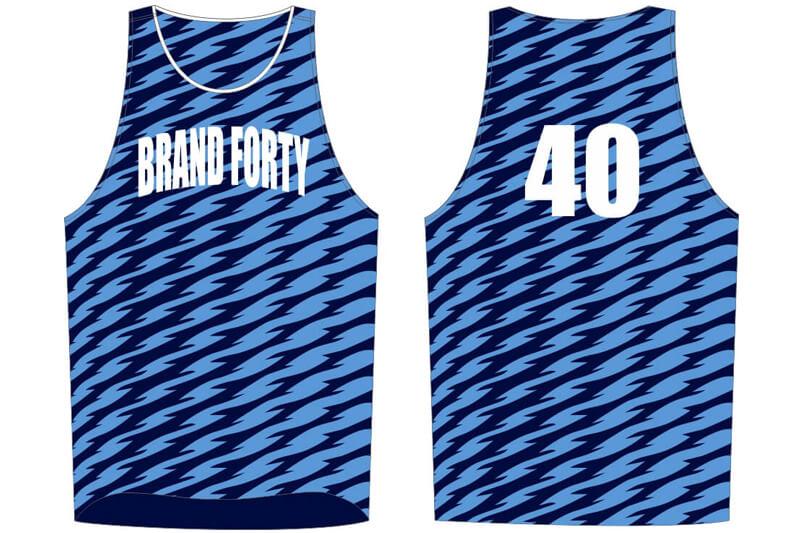 light blue and navy stripe jersey