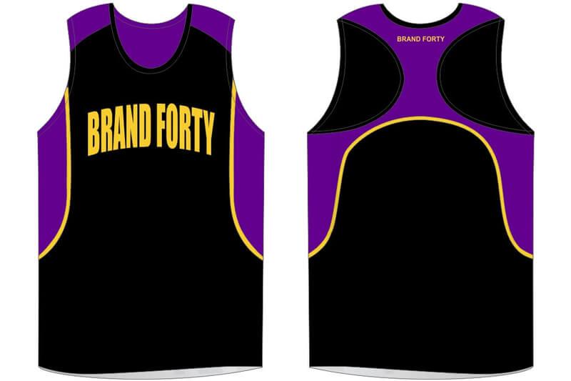 black with purple details sleeveless